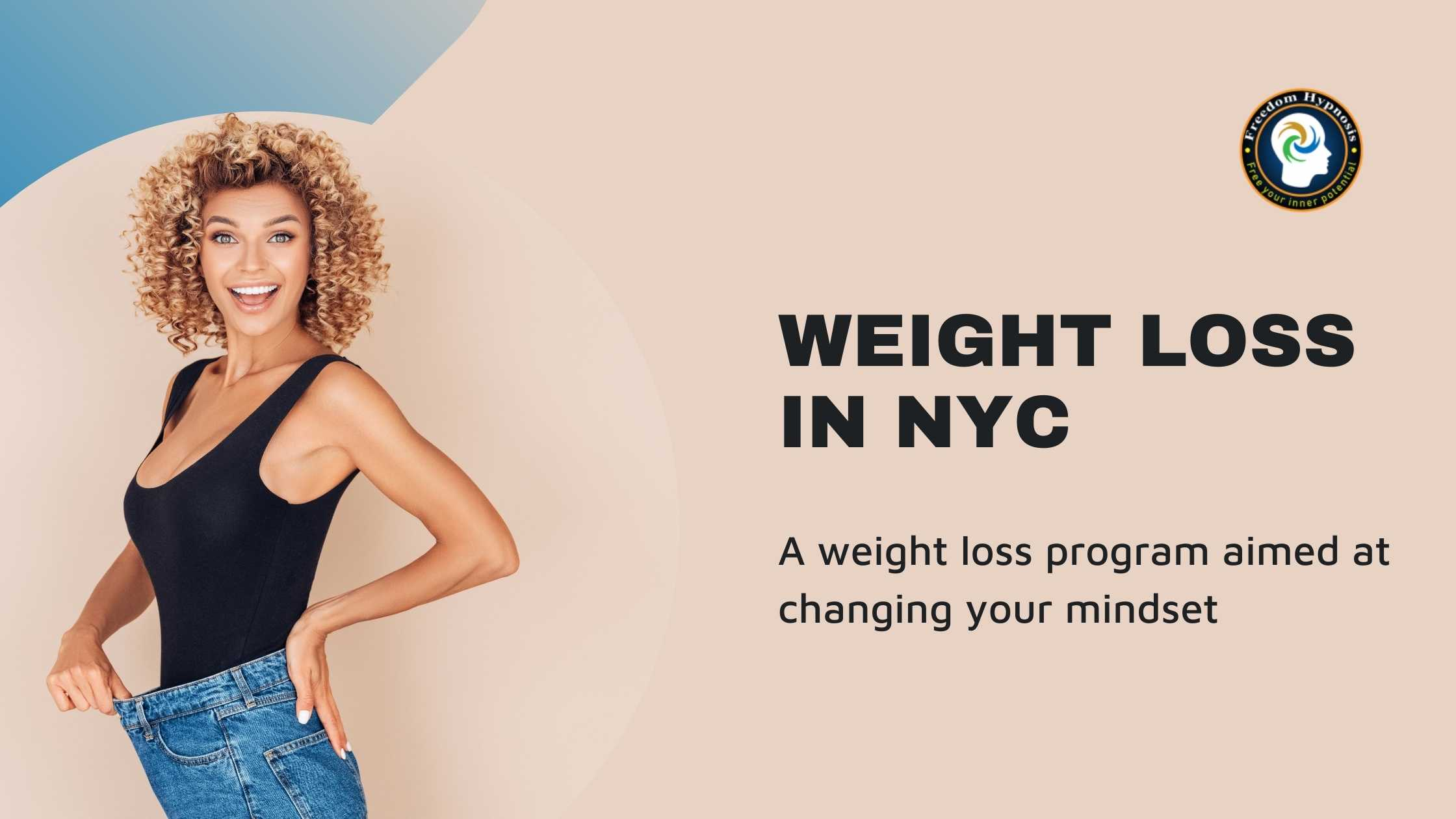 woman successful weight loss NYC through hypnosis