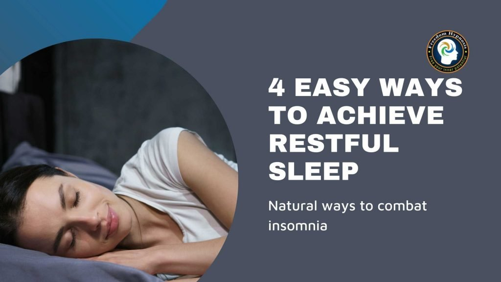 woman sleeping better and curing insomnia with hypnosis NYC sessions
