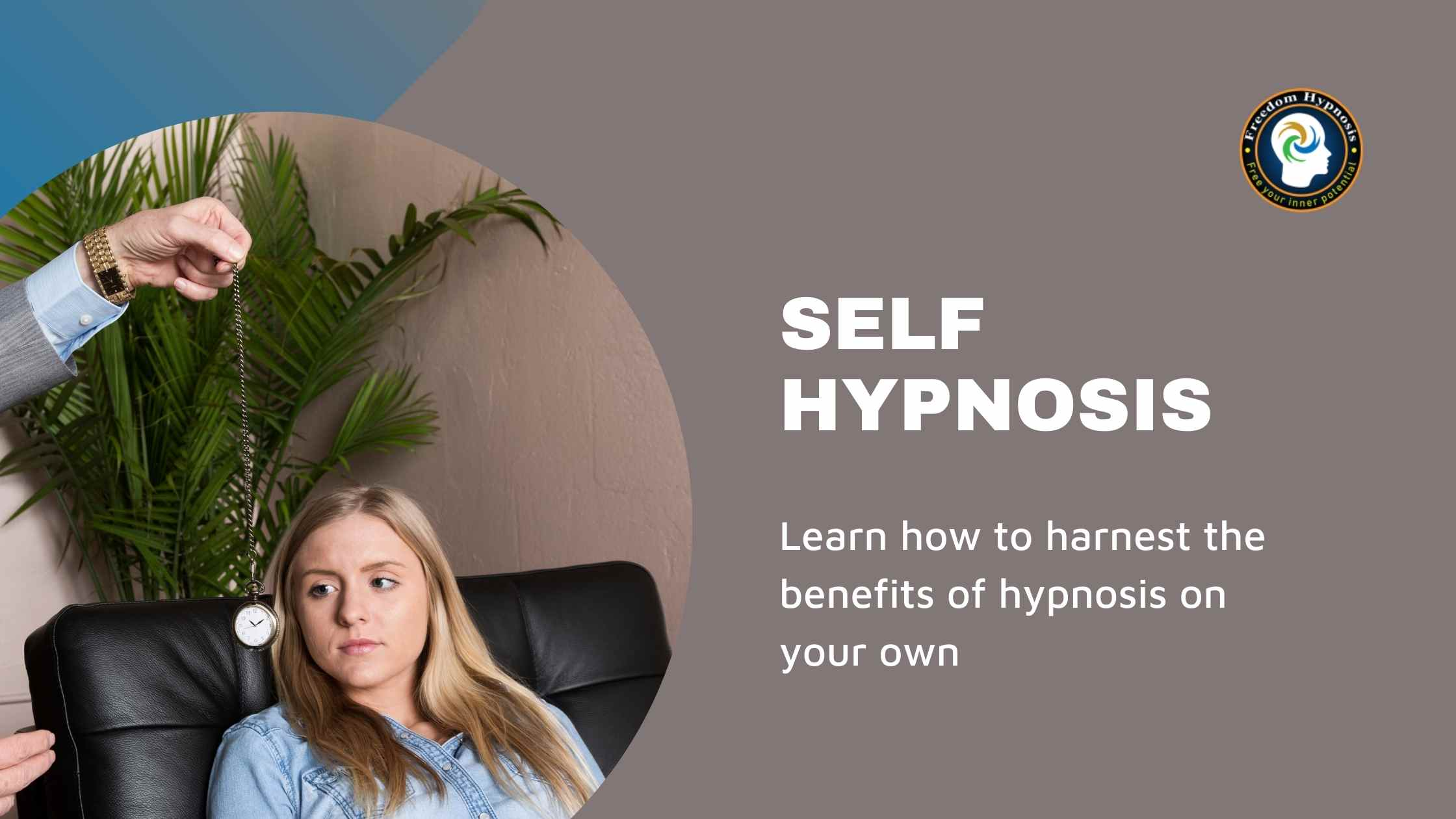 woman looking at clock for hypnosis